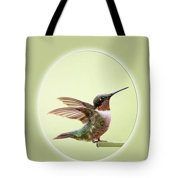 Tote Bag featuring the photograph Sweet Little Hummingbird by Bonnie Barry