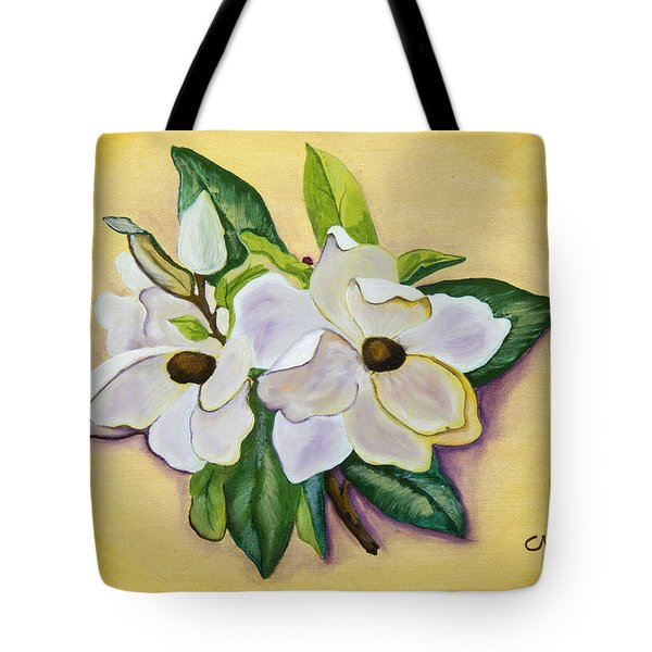 Sweet Magnolias Tote Bag by Christie Nicklay