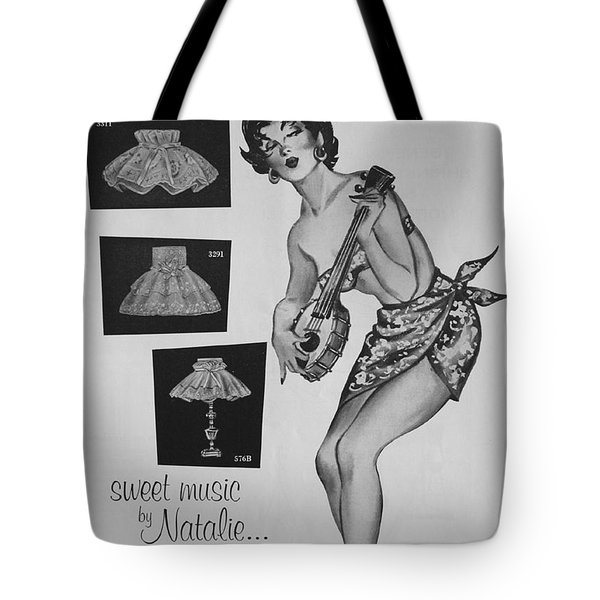 Tote Bag featuring the digital art sweet music by Natalie... by Reinvintaged
