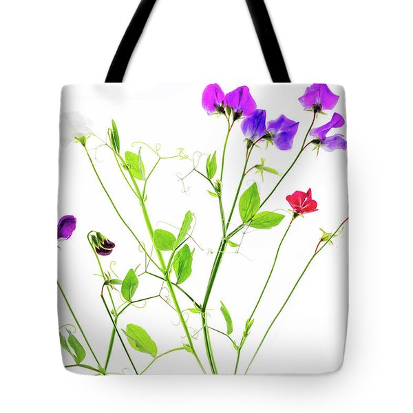 Tote Bag featuring the photograph Sweet Peas by Rebecca Cozart