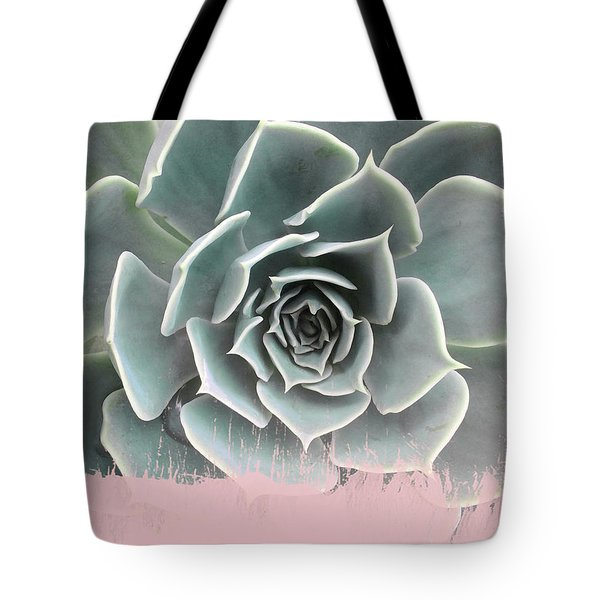 Sweet Pink Paint On Succulent Tote Bag