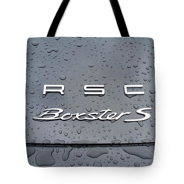 Rain Drops On A Porsche Boxster S Tote Bag by Fiona Kennard