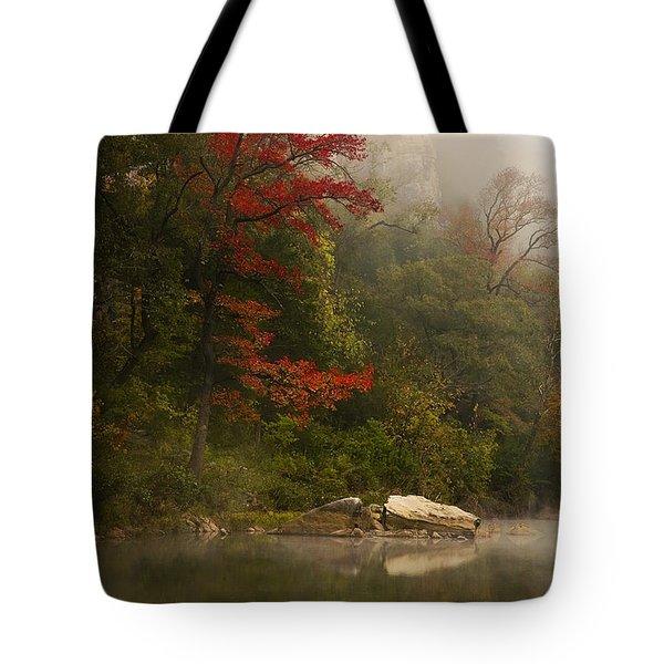 Sweetgum In The Mist At Steel Creek Tote Bag