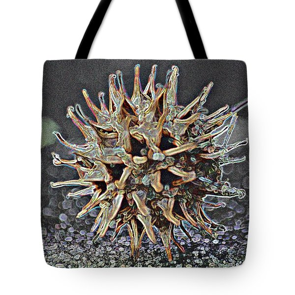 Tote Bag featuring the photograph Sweetgum Ball by Donna G Smith