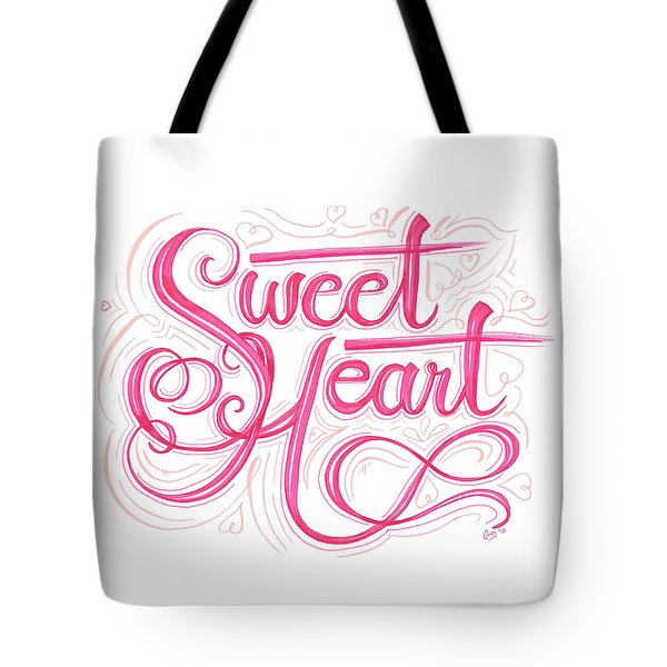 Tote Bag featuring the drawing Sweetheart by Cindy Garber Iverson