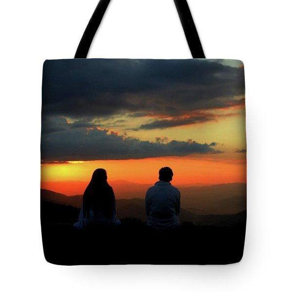 Tote Bag featuring the photograph Sweetheart Sunset by Jessica Brawley