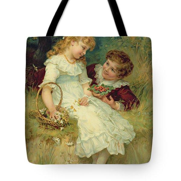 Sweethearts Tote Bag by Frederick Morgan