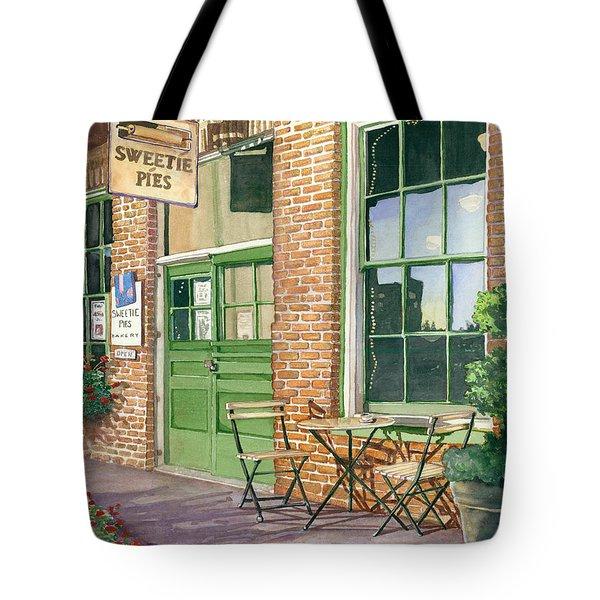 Sweetie Pies Bakery Tote Bag by Gail Chandler
