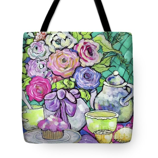 Tote Bag featuring the painting Sweetness And Tea by Rosemary Aubut