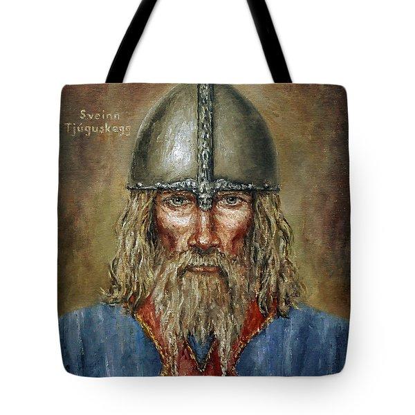 Sweyn Forkbeard Tote Bag by Arturas Slapsys