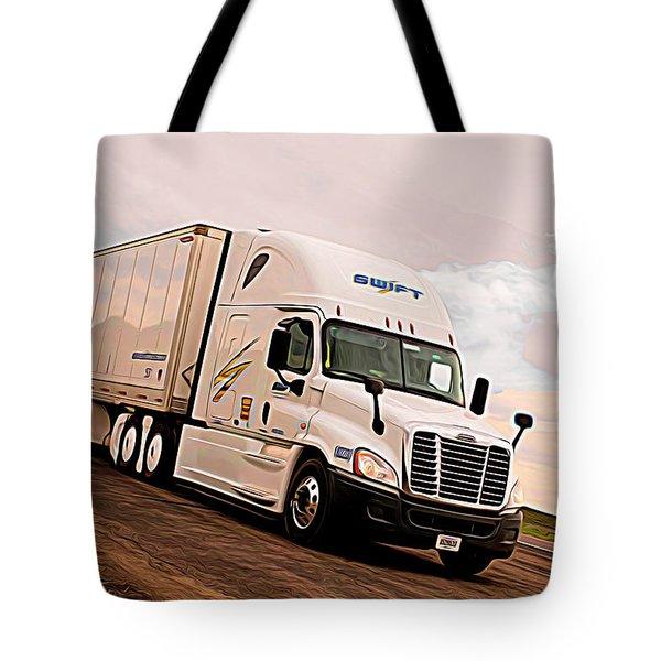 Swift Digital Art Painting #2b Tote Bag