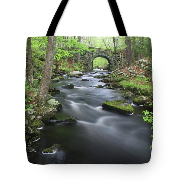Swift River And Keystone Bridge Quabbin Reservoir Tote Bag by John Burk