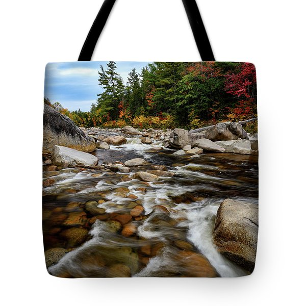 Tote Bag featuring the photograph Swift River Autumn Nh by Michael Hubley