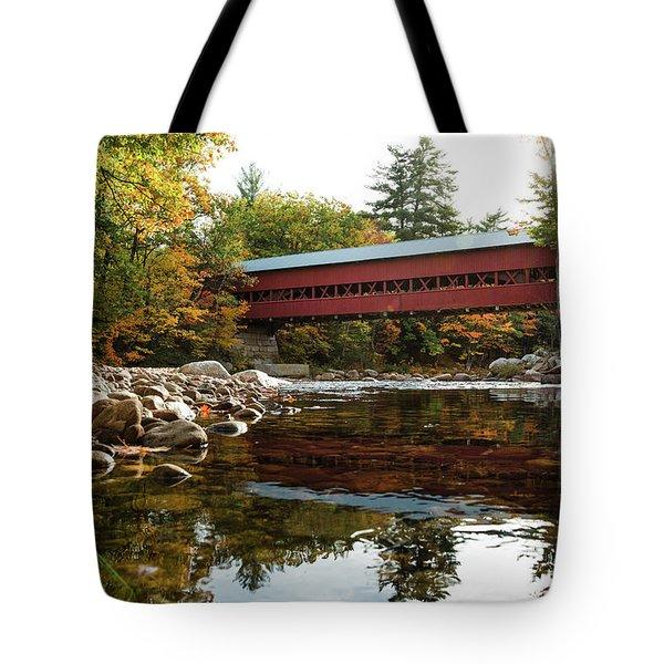 Swift River Covered Bridge Tote Bag