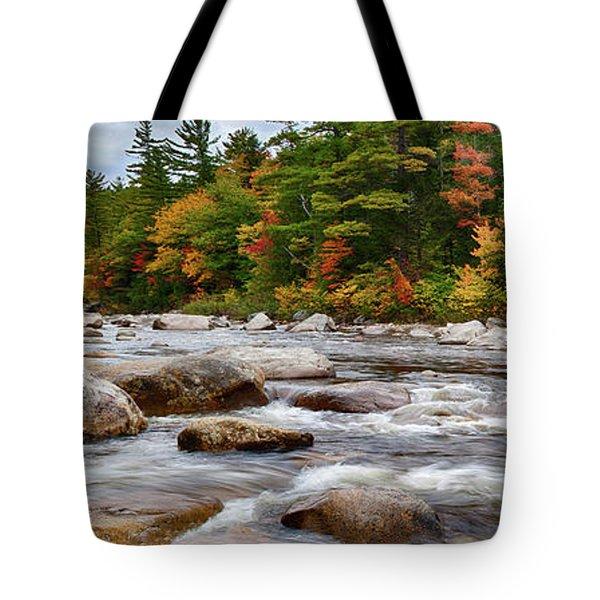 Swift River Runs Through Fall Colors Tote Bag