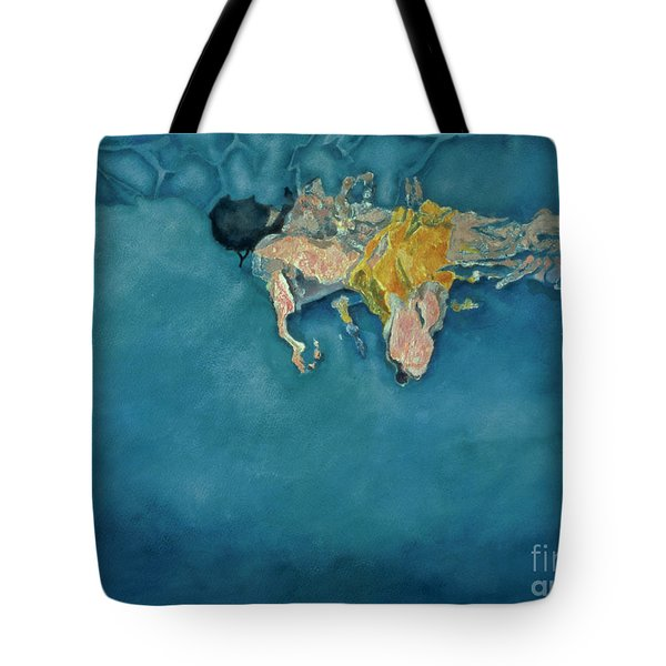 Swimmer In Yellow Tote Bag