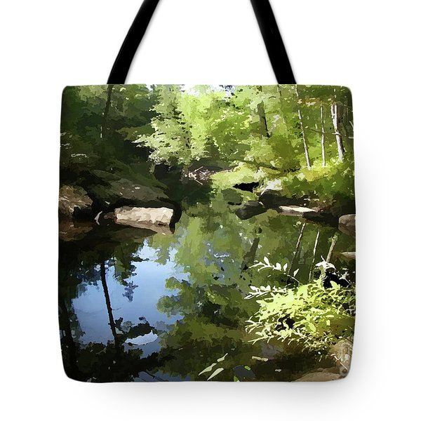 Swimmin' Hole Tote Bag by Betsy Zimmerli