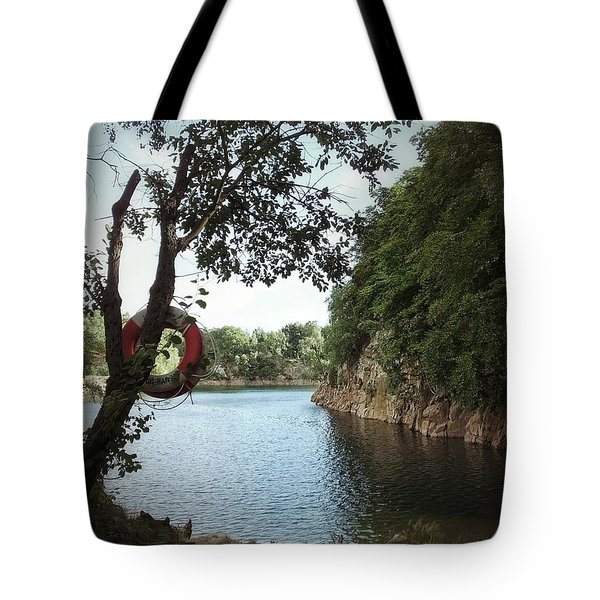 Tote Bag featuring the photograph Swimming At The Quarry by Karen Stahlros