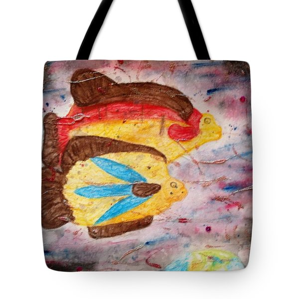 Swimming By Tote Bag by Thomasina Durkay