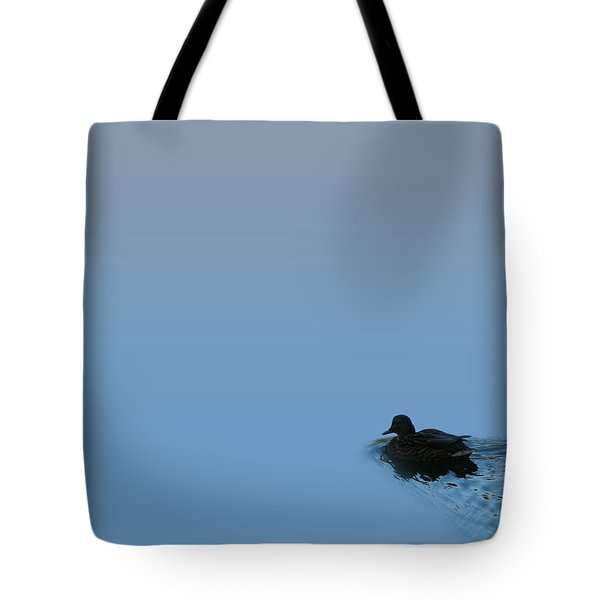 Swimming Duck Tote Bag