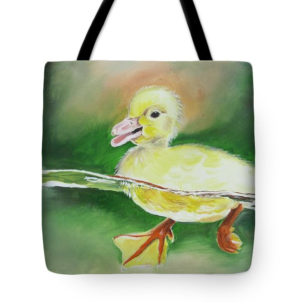 Swimming Duckling Tote Bag