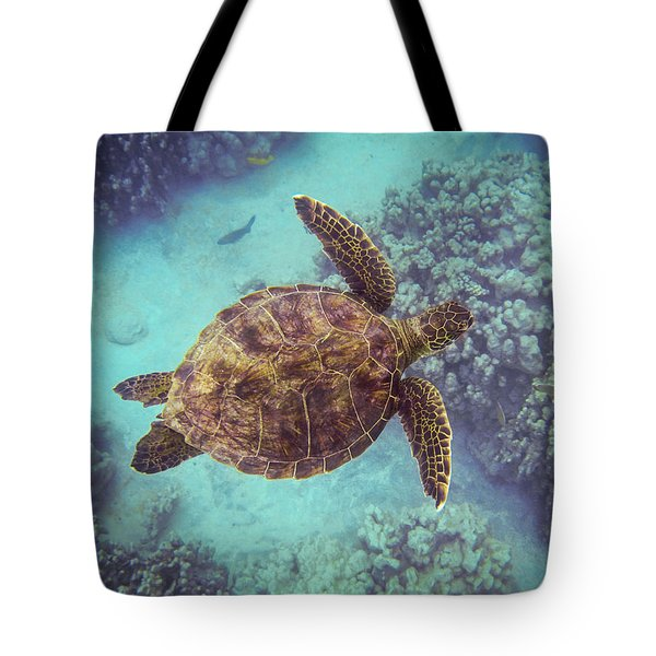 Swimming Honu From Above Tote Bag