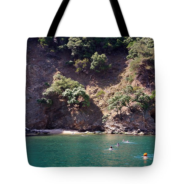 Swimming In The Green Tote Bag