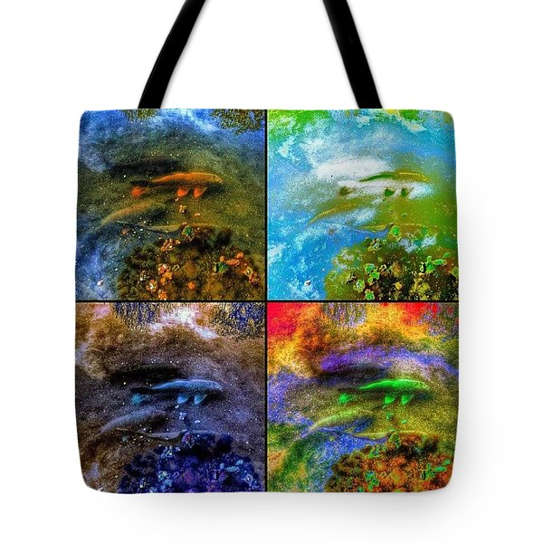 Swimming Through A Starry Sky Tote Bag
