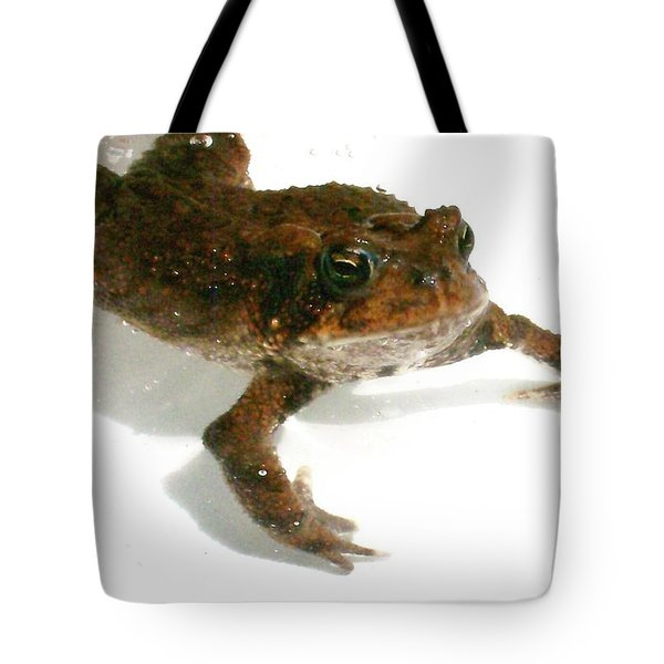 Tote Bag featuring the digital art Swimming Toad by Barbara S Nickerson