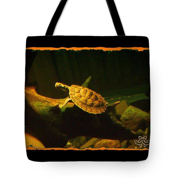 Swimming Turtle Tote Bag