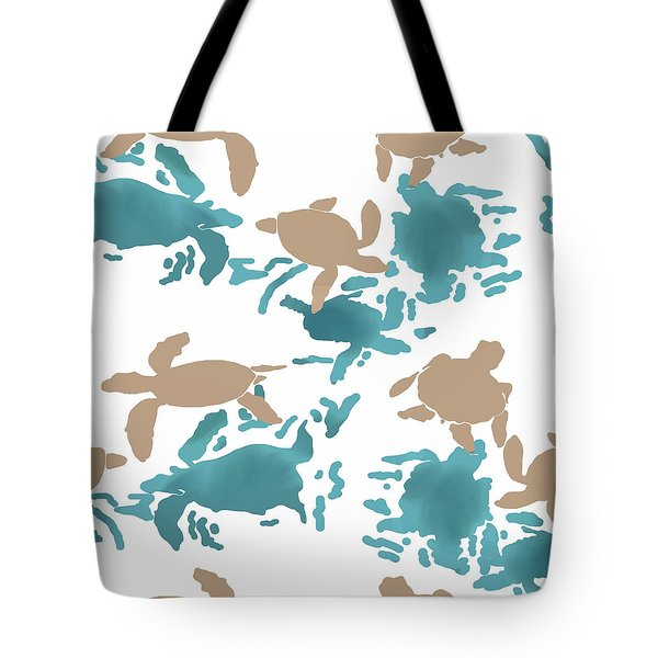 Swimming Turtles Tote Bag