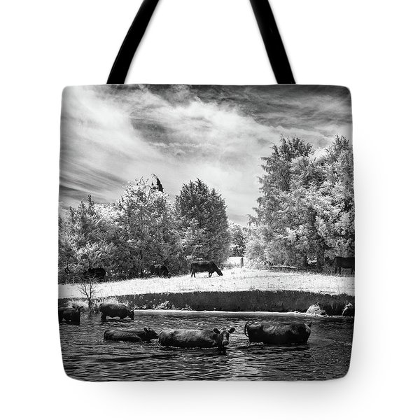Swimming With Cows IIi Tote Bag