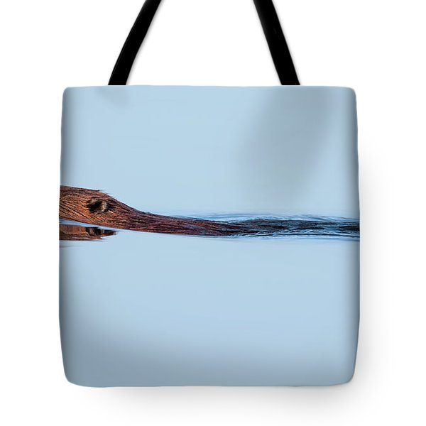 Swimming With The Beaver Tote Bag by Bill Wakeley