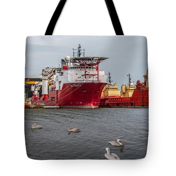 Swimming With The Big Boys Tote Bag