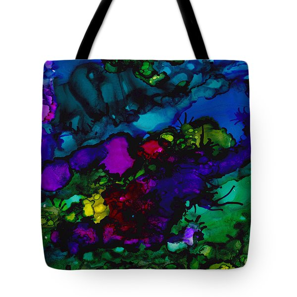Tote Bag featuring the painting Swims The Dragon by Angela Treat Lyon