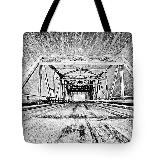 Swing Bridge Blizzard Tote Bag