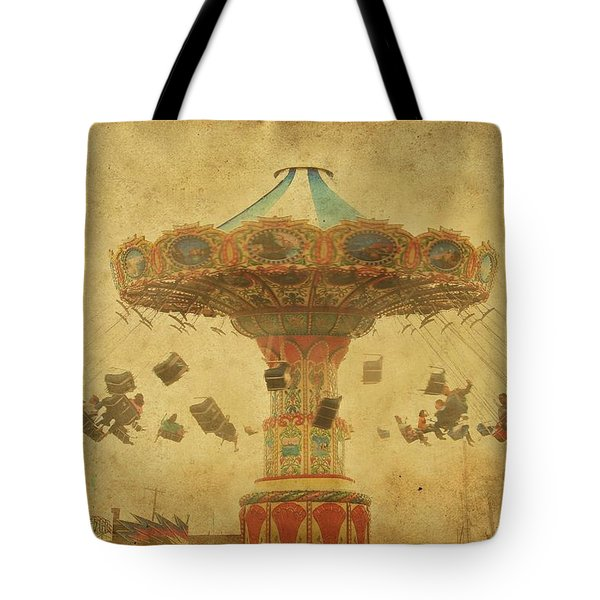 Swing Chair Ride At Jenkinsons Boardwalk - Jersey Shore Tote Bag