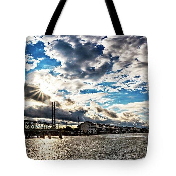 Swing Bridge Drama Tote Bag