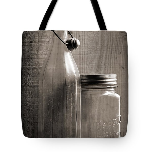 Jar And Bottle  Tote Bag by Sandra Church