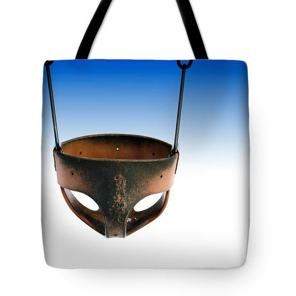 Swing Under Blue Sky Tote Bag