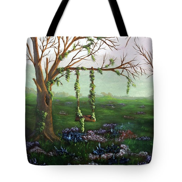 Swingin' With The Flowers Tote Bag