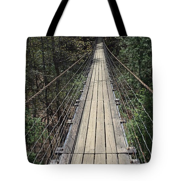 Swinging Bridge Falls Creek Falls State Park Tote Bag