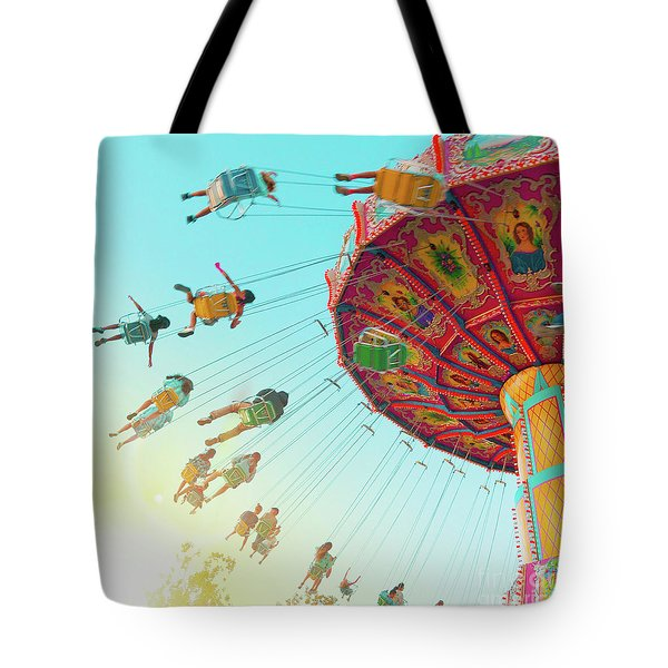 Tote Bag featuring the photograph Swings by Cindy Garber Iverson