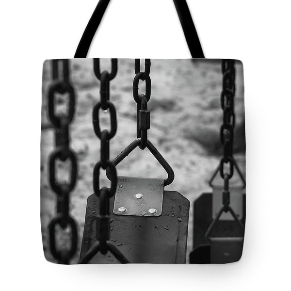 Tote Bag featuring the photograph Swings by Richard Rizzo