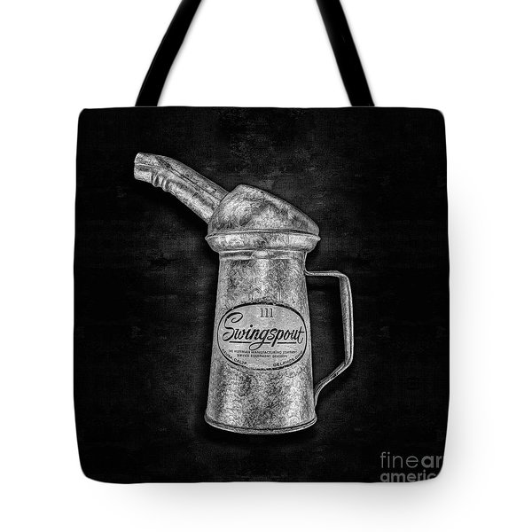 Swingspout Oil Can Bw Tote Bag