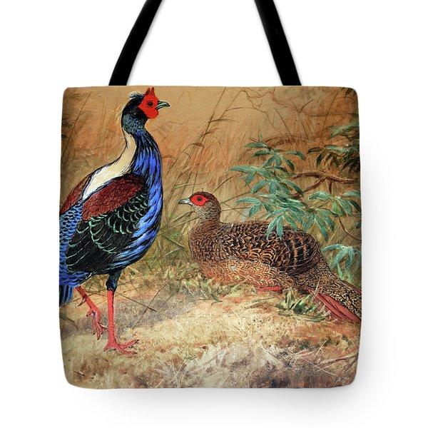 Swinhoe's Pheasant  Tote Bag by Joseph Wolf