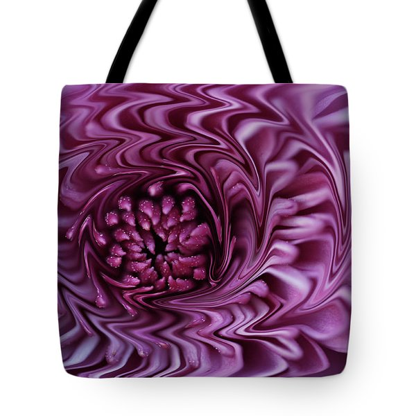Purple Mum Abstract Tote Bag by Glenn Gordon