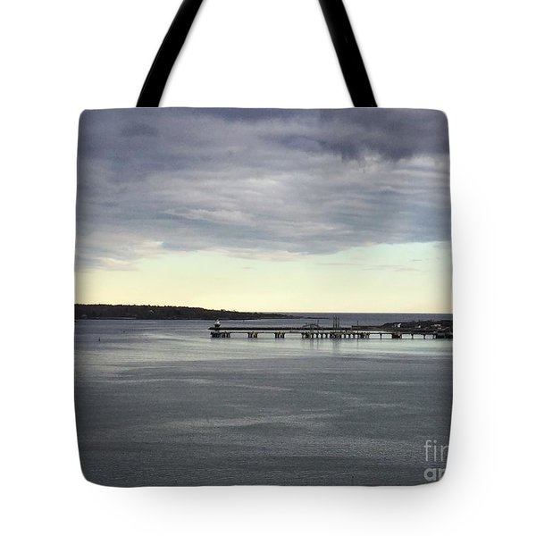 Swirling Currents On Casco Bay Tote Bag
