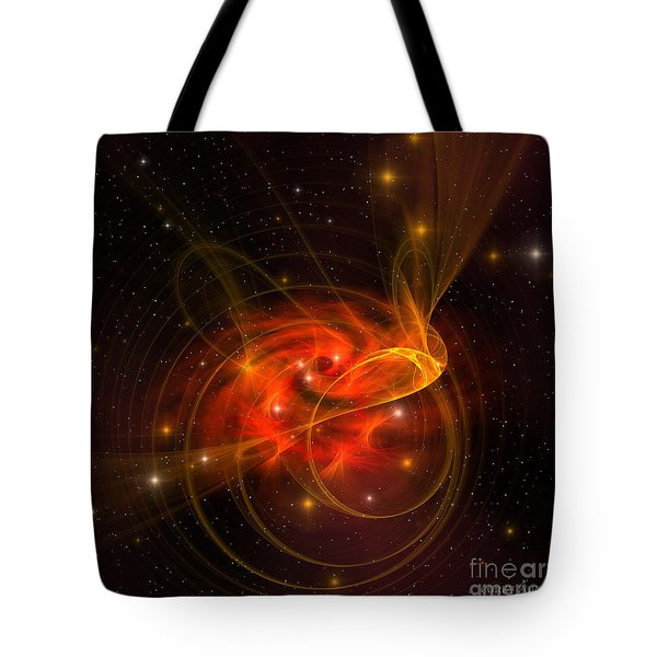 Swirling Galaxy Tote Bag