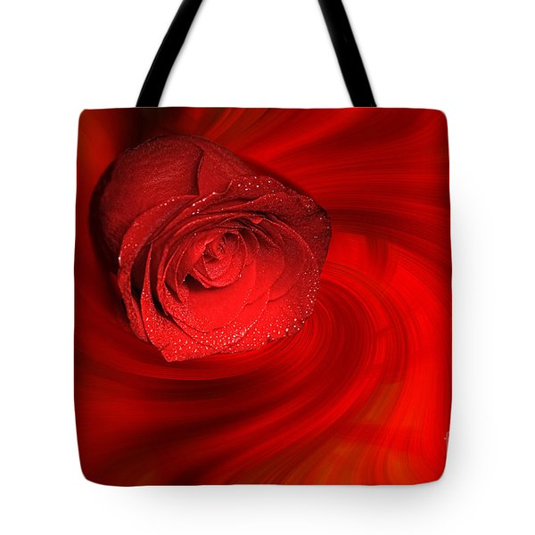 Swirling Rose Tote Bag